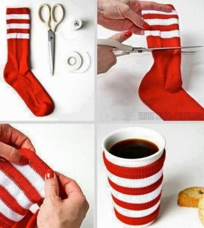 sock-mug-cozie-repurpose-reuse