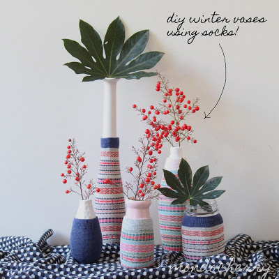 sock-vase-cover-reuse-repurpose 2