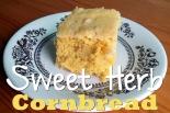 Sweet Herb Cornbread | TrulyCozyBlog.com