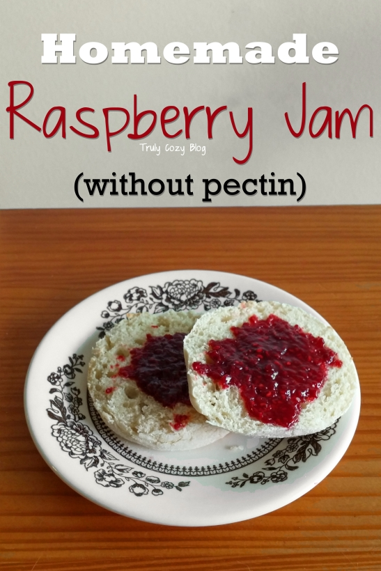 Homemade Raspberry Jam (without pectin) | TrulyCozyBlog.com