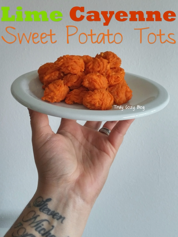 Lime Cayenne Sweet Potato Tots - TrulyCozyBlog.com